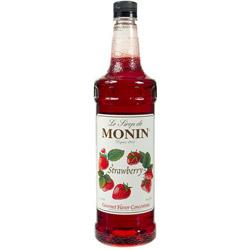Monin Strawberry Drink Syrup, 1 Liter