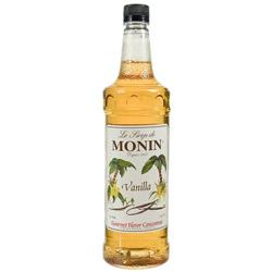 Monin Vanilla Drink Syrup, 1 Liter