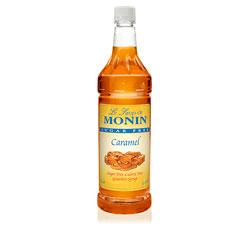 Monin Sugar Free Caramel Drink Syrup, 1 Liter