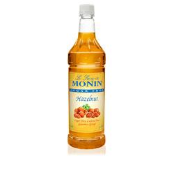 Monin Sugar Free Hazelnut Drink Syrup, 1 Liter