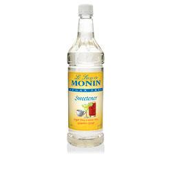 Monin Sugar-Free Plain Drink Syrup, 1 Liter