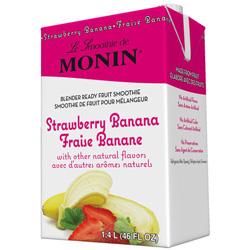 Monin Strawberry Banana Fruit Smoothie Mix