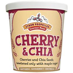 Straw Propeller Cherry & Chia Oatmeal