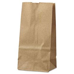 Duro #2 Paper Grocery Bag, 30lb Kraft, Standard 4 5/16 x 2 7/16 x 7 7/8, 500 bags