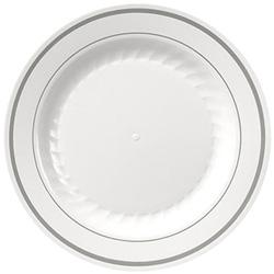 WNA Comet Masterpiece Plate White/Silver 10 1/4 in