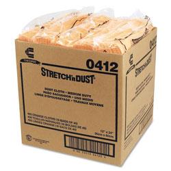 Chicopee Stretch 'n Dust Cloths, 11 5/8 x 24, Yellow, 40 Cloths/Pack, 10 Packs/Carton