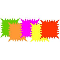 "R&T Enterprises Neon Starcard, 5"" x 5"""