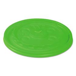 Wincup Vio Biodegradable Lids f/12-24 oz Cups, Straw-Slot, Green, 1000/Carton