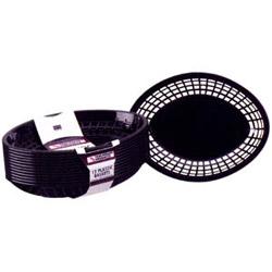 Tablecraft Medium Black Plastic Oval Basket