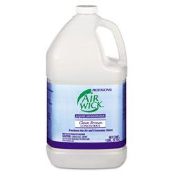 Air Wick Liquid Deodorizer, Clean Breeze, 1 gal, Concentrate, 4/Carton