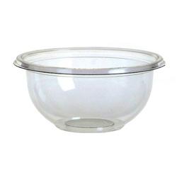 Sabert FreshPack Plastic Round Bowl, 16 OZ, Clear