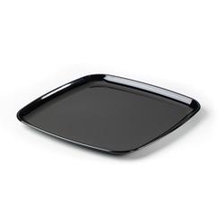 Sabert Mozaik Plastic Square Platter, 12 in, Black