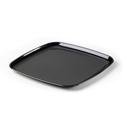 Sabert Mozaik Plastic Square Platter, 11 in, Black