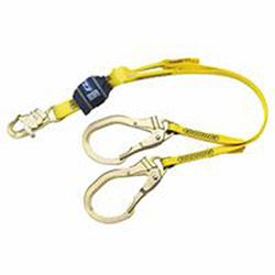 DBI/Sala EZ Stop Shock Absorbing Lanyard, 4 ft, Snap Hook Connection, 310 lb Cap., 2 Legs