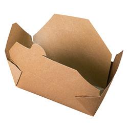 Fold-Pak BioEarth #9 Take Out Carton, Kraft