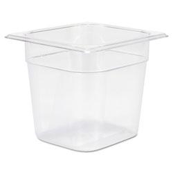 Rubbermaid Cold Food Pans, 2 1/2qt, 6 3/8w x 6 7/8d x 6h, Clear
