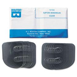 Bouton Slip-On Sideshields, Plastic, Clear, 10 Pairs/Box