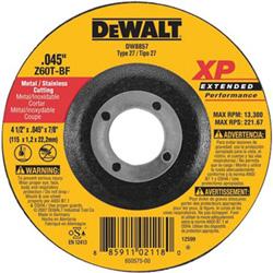 Dewalt Tools 4-1/2 in X .045 in X 5/8 in -11 XP CUTOFF WHEEL