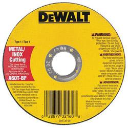 "Dewalt Tools 4-1/2"" x .045"" x 7/8"" Metalthincut-off Wheel Type-1"