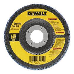 "Dewalt Tools 4-1/2"" x 7/8"" 60 Grit Zirconia Flap Disc Wheel"