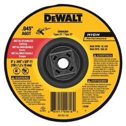 Dewalt Tools 4-1/2 in X .045 in X 5/8 in -11 HP CUTOFF WHEEL