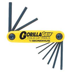 "Bondhus .050-3/16"" Gorilla Gripfoldup Tool Set"