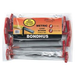 Bondhus Btx 80 mm 8 Piece T-handle Hex Set BallDriver