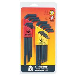 Bondhus 22-Piece Hex L-Wrench Combination Set, SAE/Metric