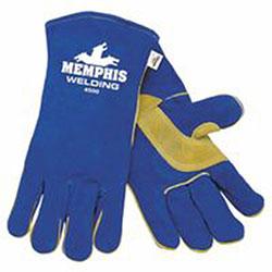 Memphis Glove Select Shoulder Welding Gloves, Cowhide, Extra Large, Blue