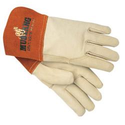 Memphis Glove Grain Leather Gauntlet Cuff Sewn w/Kevl