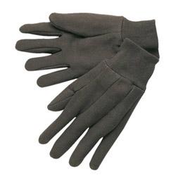 Memphis Glove Jerseys General Purpose Gloves, Brown, Large, 12 Pairs