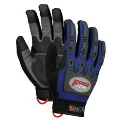 Memphis Glove Forceflex Dry Grip Tpr Protection- Hook/Loop L