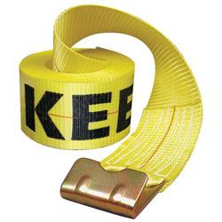 "Keeper 4"" x 27' Winch Strap 15000lbs Capacity w/Flat Hoo"
