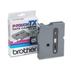 Brother TX Tape Cartridge for PT-8000, PT-PC, PT-30/35, 1/2 inw, Black on White