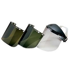 Huntsman F10 PETG Faceshields, 34-40AP, Clear, 15 1/2 x 9, Bulk