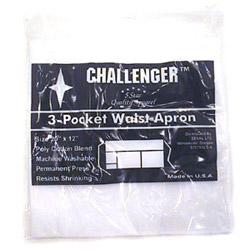 Challenger 3 Pocket White Waist Apron