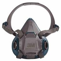 3M Rugged Comfort Half-Facepiece Reusable Respirators, Medium