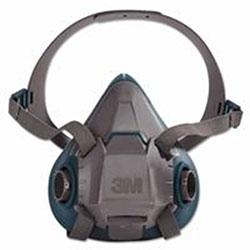 3M Rugged Comfort Half-Facepiece Reusable Respirators, Large