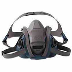 3M Rugged Comfort Quic-Latch Half-Facepiece Reusable Respirators, Large