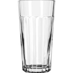 Libbey Paneled Tumblers, 24 oz, Clear, Jumbo Cooler Glass