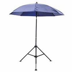 Lapco Heavy Duty Umbrella, Blue Vinyl, 7' diameter x 6 1/2in height