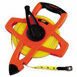 Lufkin Engineer Hi-Viz Fiberglass Measuring Tape, 1/2 inx200ft, Yellow Blade, Orange Case