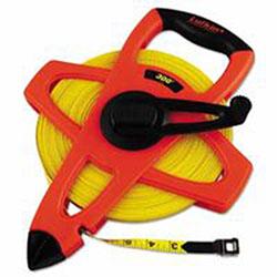 Lufkin Hi-Viz® Orange Reel Fiberglass Tapes, 1/2 in x 300 ft, 1/8 in Grad.