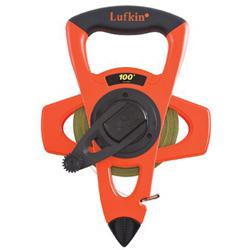 Lufkin Pro Series Nyclad Tape Measure, 100', Hi-Viz Orange
