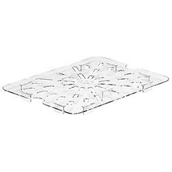 Cambro Food Pan Drain Shelf 1/2 Camwear® Clear