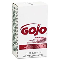 Gojo Spa Bath Body & Hair Shampoo, Herbal, Rose Color, 2000mL Refill, 4/Carton