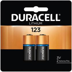 Duracell DL123AB2PK 3.0 Volt Lithium Battery(2 Batteries/cd)