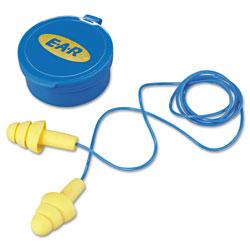 3M E�A�R UltraFit Multi-Use Earplugs, Corded, 25NRR, Yellow/Blue, 50 Pairs