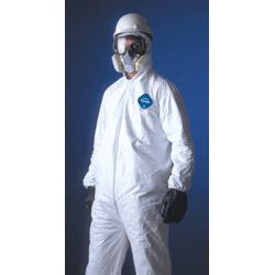 Dupont Tyvek Coverall Zipper Front Att Hood Elastic Wri