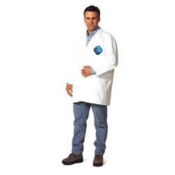 Extensis Tyvek Lab Coats No Pockets Knee Length, X-Large, DuPont Tyvek Lab Coat